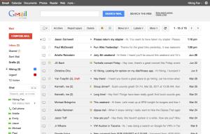 Ejemplo de Listas de correo en Gmail