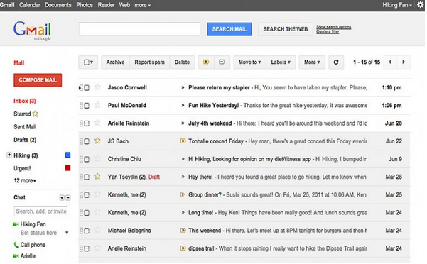 Descargar emails en Gmail