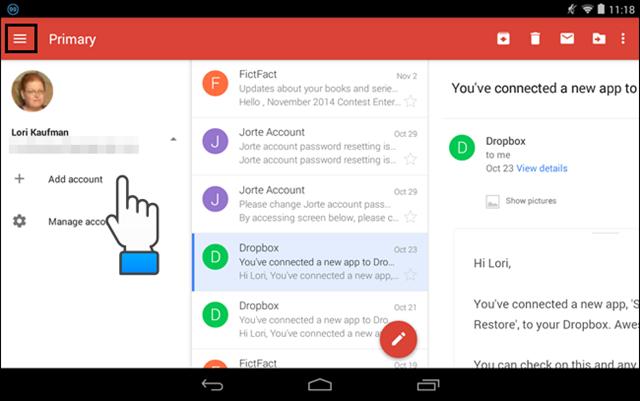 agregar cuentas de gmail en android