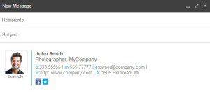 crear una firma en el correo de gmail profesional
